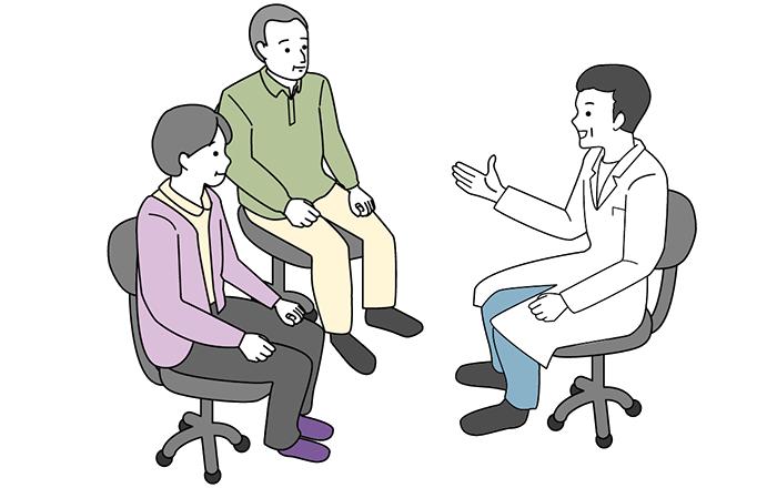 医者と患者の家族